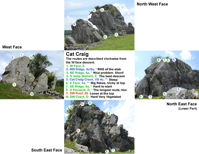 This is an excellent but very small crag in the Urr valley, near Kilquhanity School, just 6 miles north of Castle Douglas