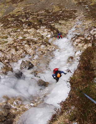 White Rhino ice climb, Galloway Hills
