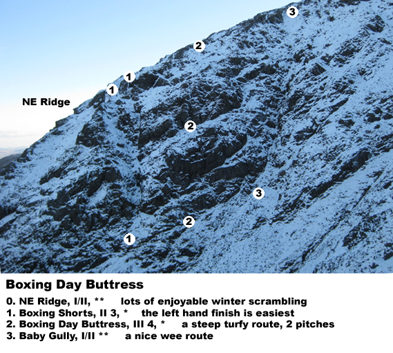 Boxing Day Buttress, Rhinns of Kells, Corserine