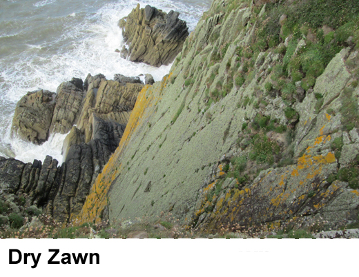 Dry Zawn at meikle Ross.