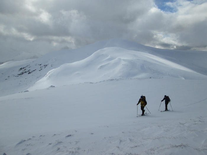 Skiing on Carn Gorm, Glen Lyon