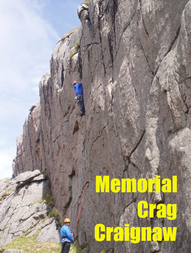 Rock Climbing at Memorial Crag, Craignaw