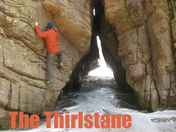 Rock Climbing and bouldering at the Thirlstane near Dumfries